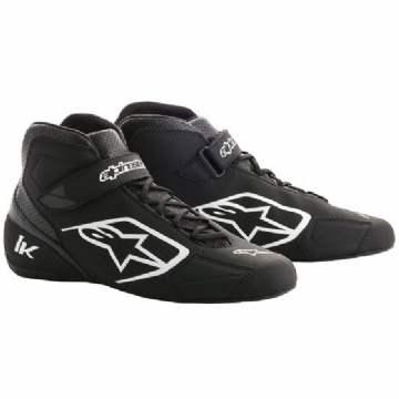 TECH 1K KART BOOTS BLK/WHITE